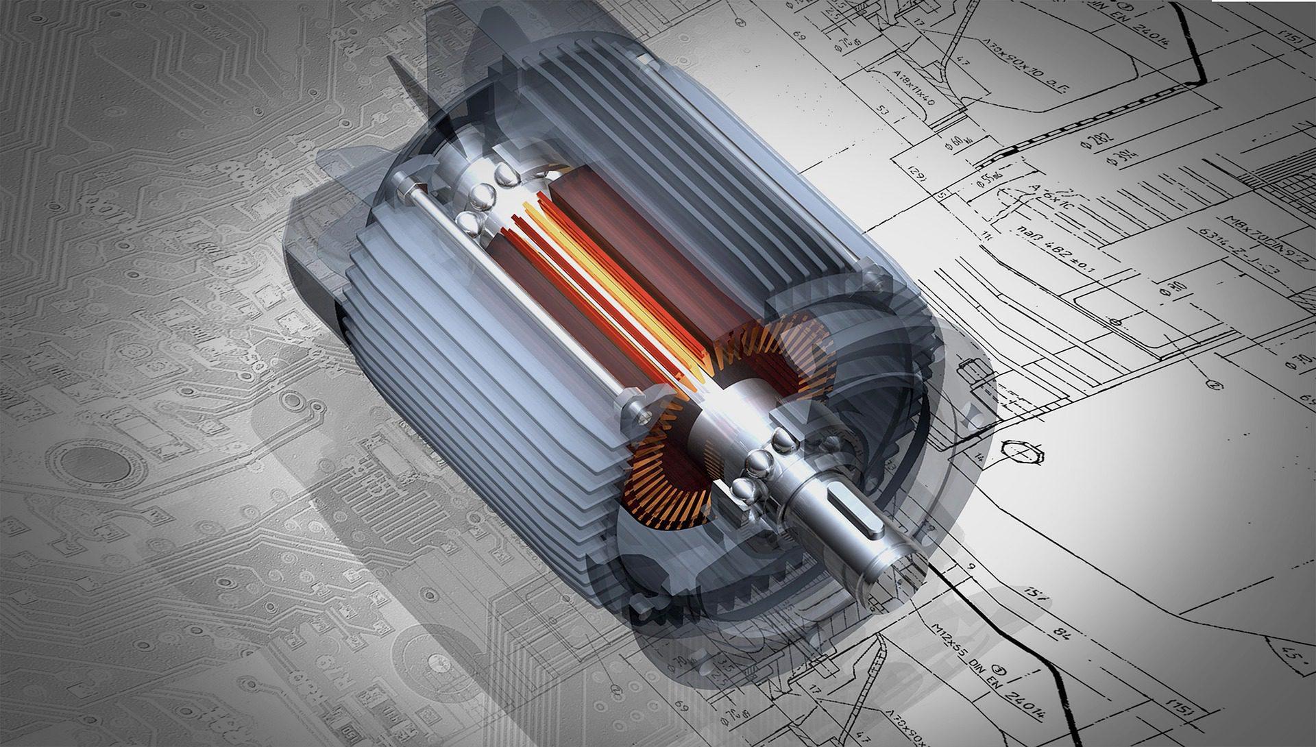 Représentation d'un moteur électrique